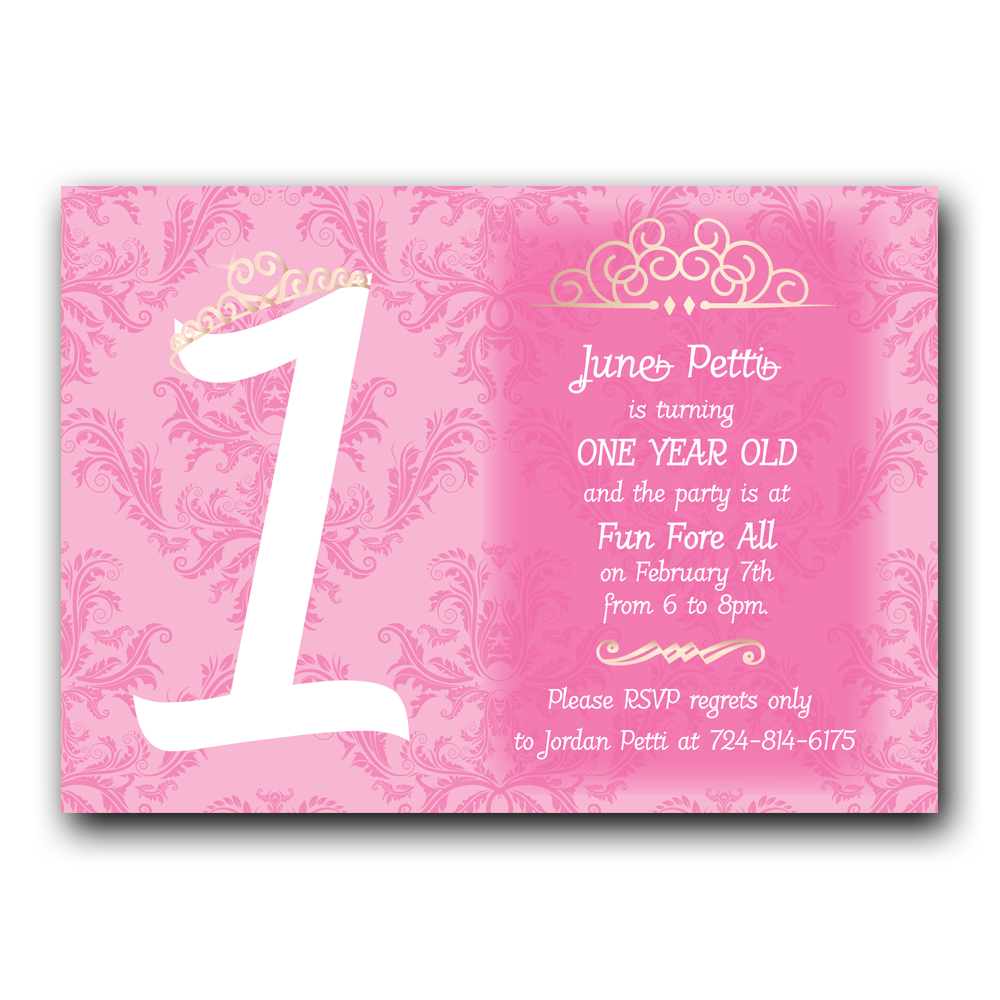 Princess first birthday invitation dot and bow princess first birthday invitation filmwisefo