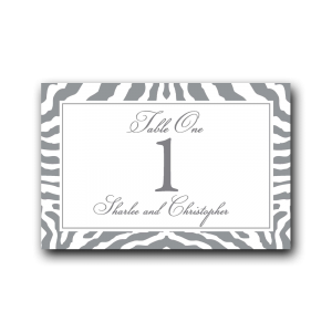 zebra table numbers