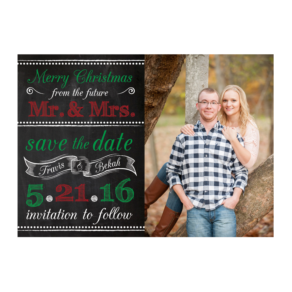 Merry Christmas From The Future Mr Mrs Save The Date Dot And Bow