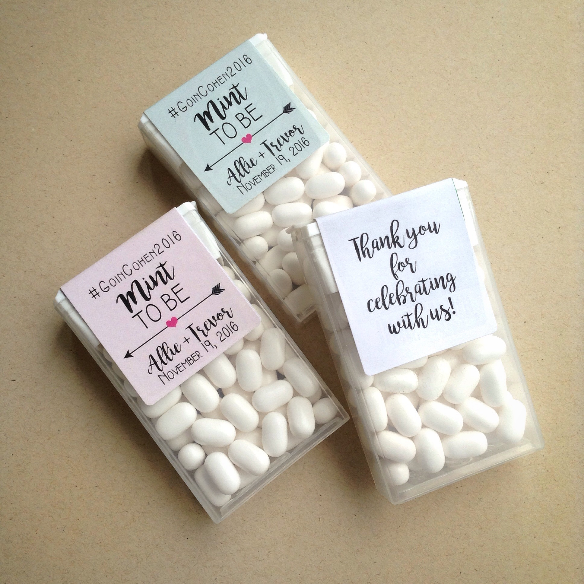 Mint To Be Tic Tac Labels - Wraparound - Dot and Bow
