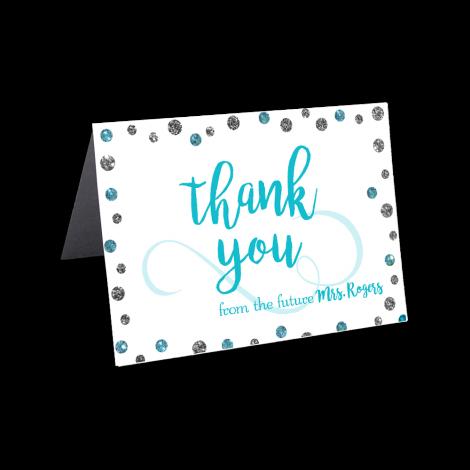 Glitter Polka Dots Thank you