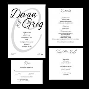 calligraphy invitation set
